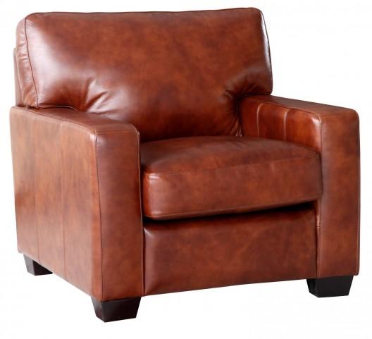 Aberdeen Auburn Top Grain Leather Chair