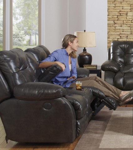 Watson Coal Power Reclining Loveseat with Console
