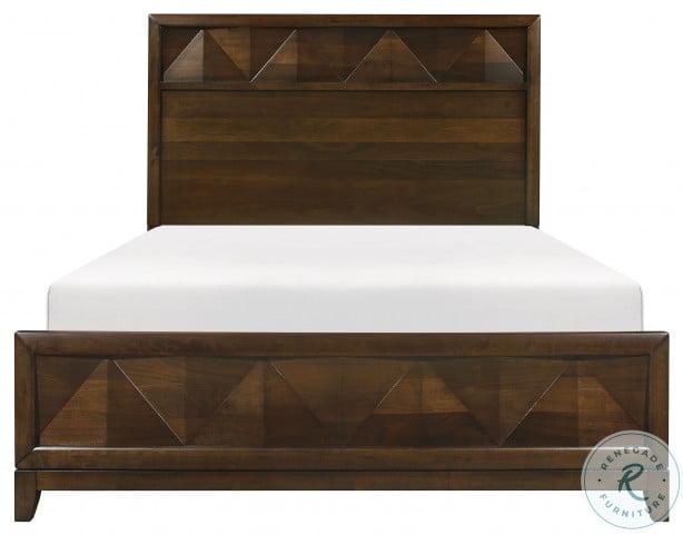 Aziel Walnut Cal. King Panel Bed