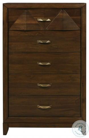Aziel Walnut Panel Bedroom Set