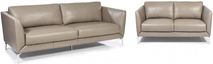 Anvers Adobe Leather Living Room Set