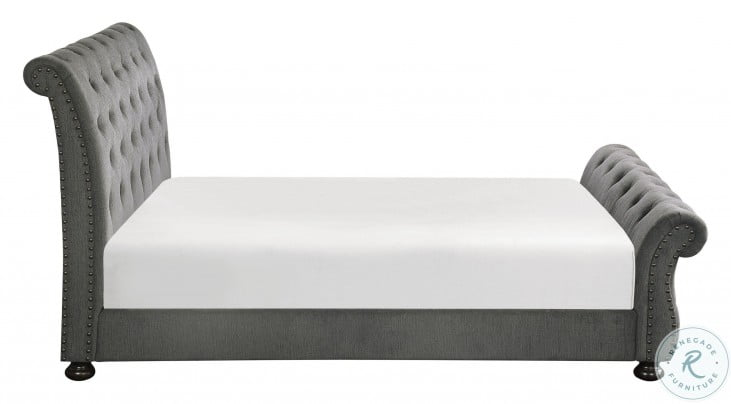 Crofton Dark Gray Cal. King Upholstered Panel Bed