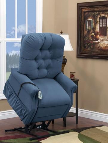 Aaron Williamsburg Blue Wide Petite Three Way Reclining Lift Chair