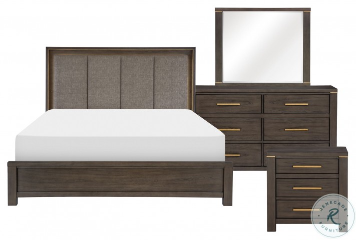 Scarlett Brownish Gray King Panel Bed