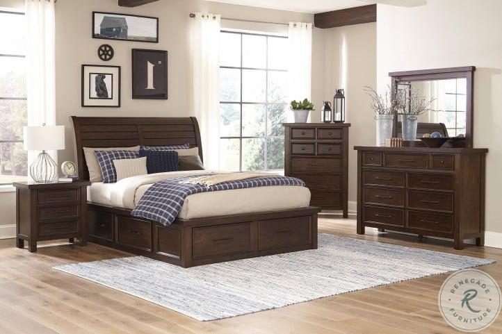 Logandale Brown Storage Platform Bedroom Set