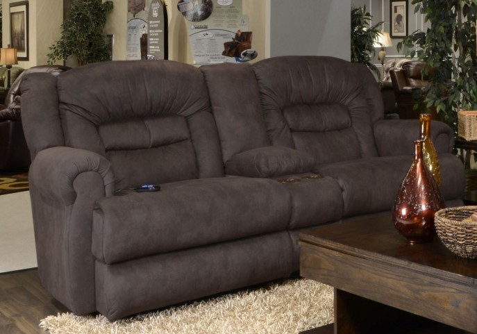 Atlas Sable Extra Tall Reclining Loveseat with Console