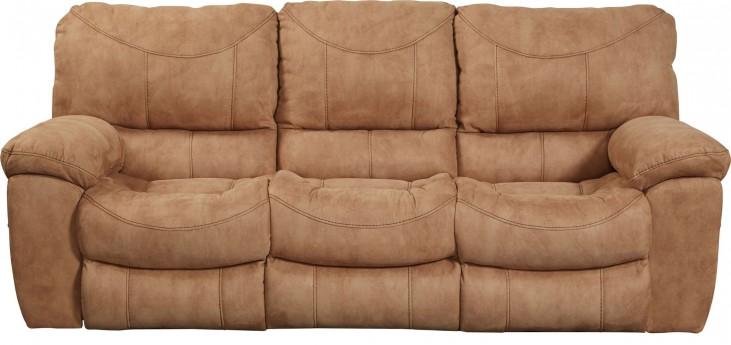 Terrance Caramel Reclining Sofa