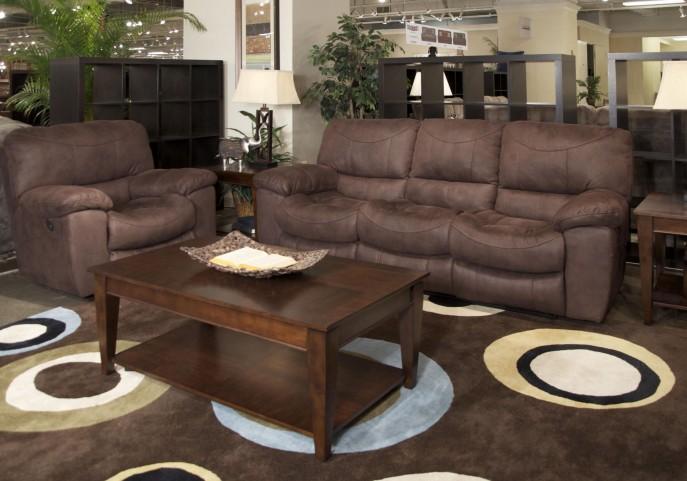 Terrance Chocolate Reclining Living Room Set