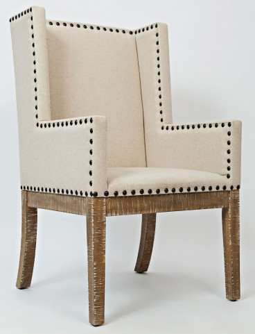 Pacific Heights Bisque Upholstered Side Chair Set of 2