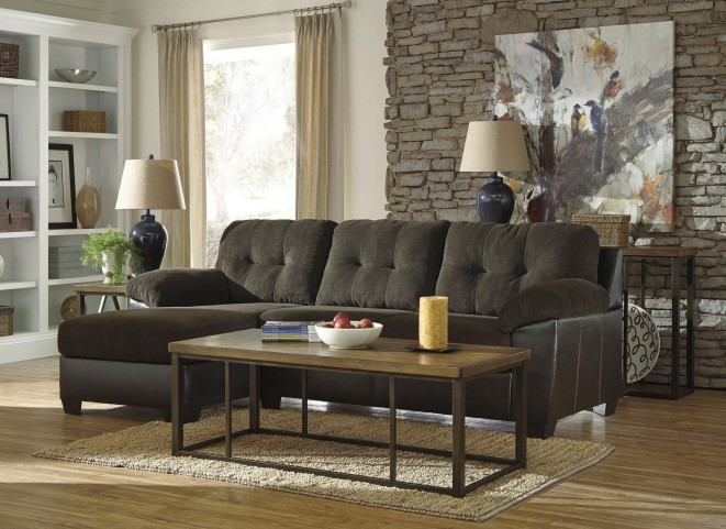 Vanleer Chocolate LAF Sectional