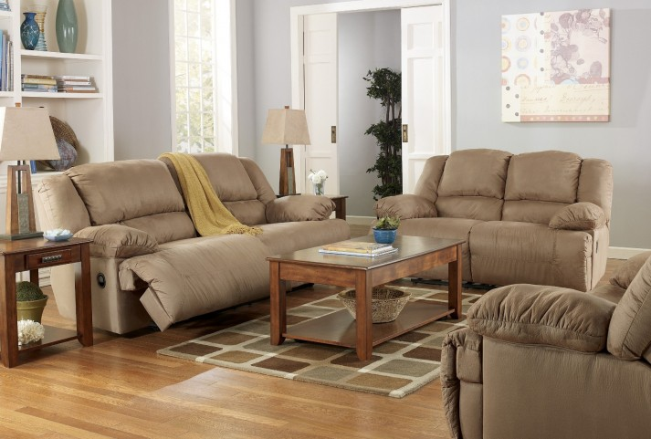Hogan Mocha Reclining Living Room Set