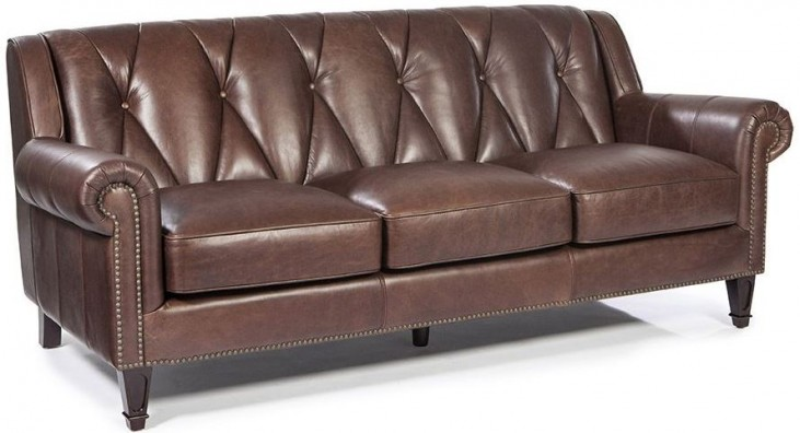 Lucia French Beige Leather Sofa