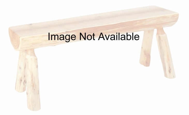 "Cedar 48"" Log Bench"
