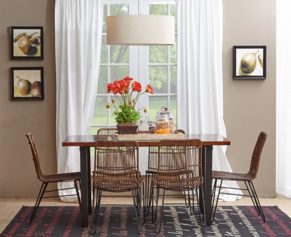 Urban Dweller Wood and Metal Dining Room Set