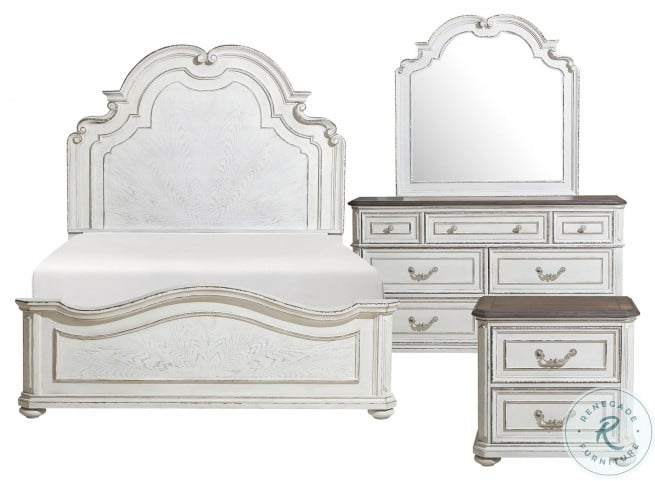 Willowick Lightly Distressed Panel Bedroom Set