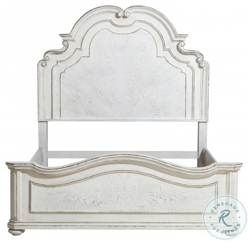 Willowick Lightly Distressed King Panel Bed