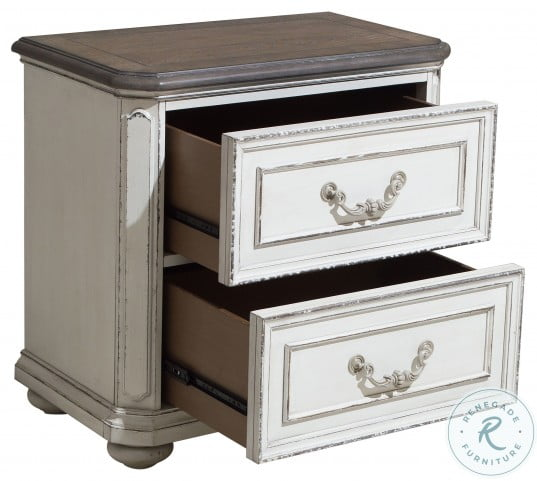 Willowick Antique White And Brown Cherry Nightstand