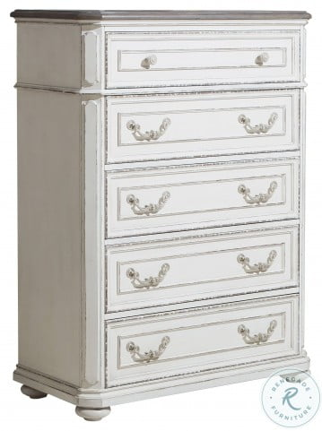Willowick Antique White And Brown Cherry Chest
