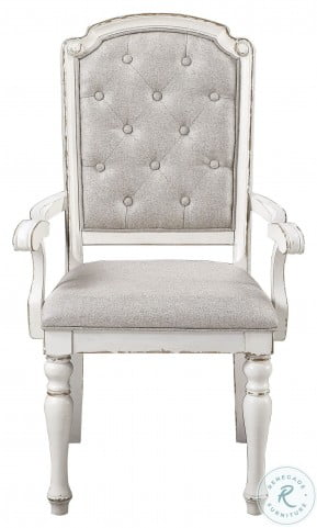 Willowick Antique White Tufted Arm Chair Set Of 2