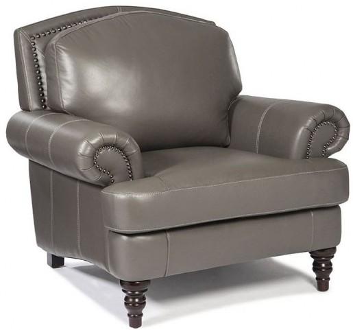 Juliette Battleship Grey Leather Chair