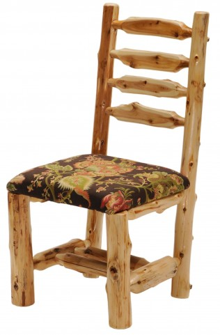 Cedar Upholstered Log Side Chair