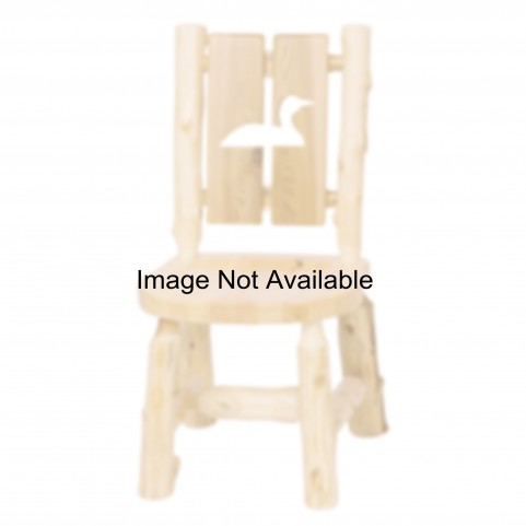 Cedar Cut-Out Bear Log Side Chair