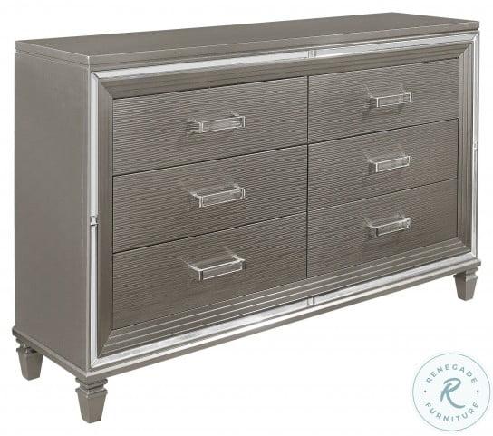 Tamsin Silver Gray Metallic Dresser