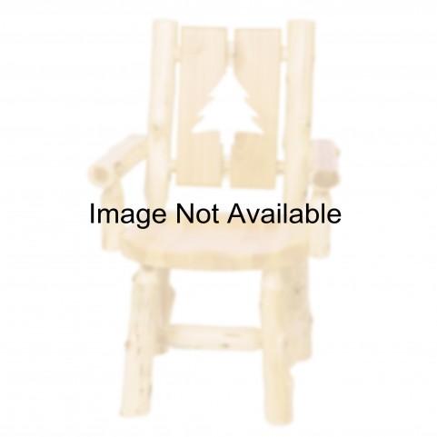 Cedar Cut-Out Loon Log Arm Chair