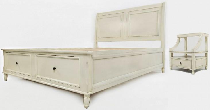 Avignon Ivory Storage Bedroom Set
