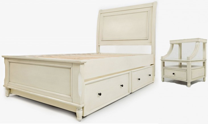 Avignon Ivory Youth Trundle Panel Bedroom Set