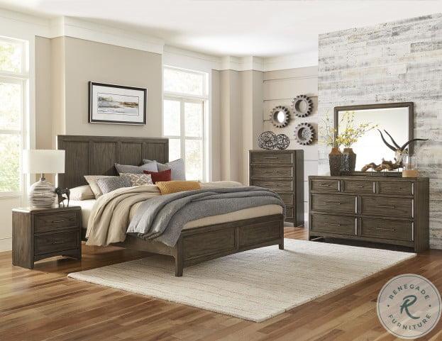 Seldovia Brown Gray Cal. King Panel Bed