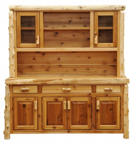 """Cedar 75"""" Buffet With Hutch With Open Shelving"""