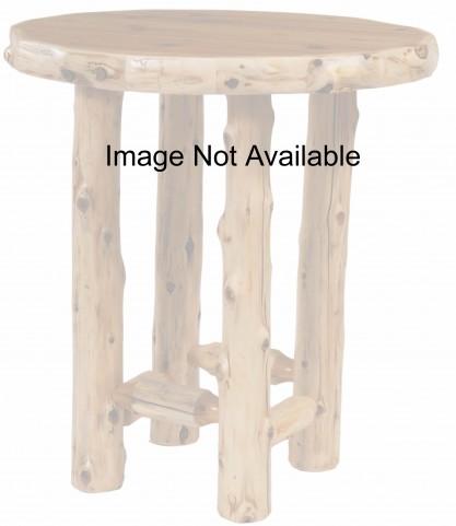 "Cedar 40"" Round Liquid Glass Pub Table"