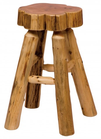 """Cedar 24"""" Counter Height Slab Stool without Back"""
