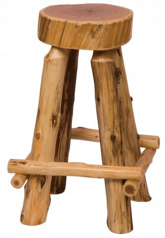 "Cedar 30"" Bar Height Slab Barstool"