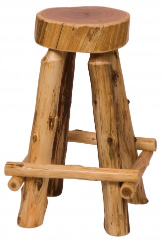 "Cedar 24"" Counter Height Slab Stool"