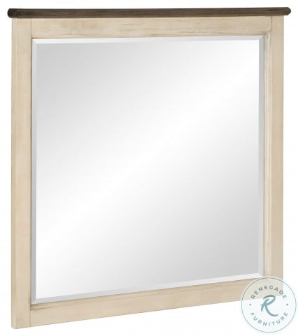 Weaver Antique White And Rosy Brown Mirror