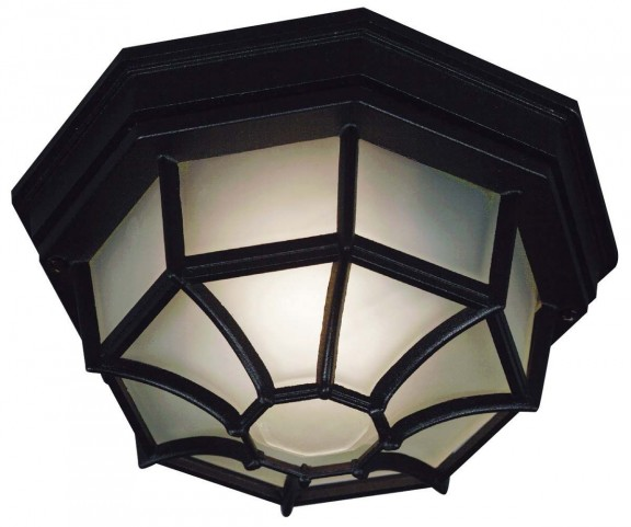 Dural Black 2 Light Flush Mount