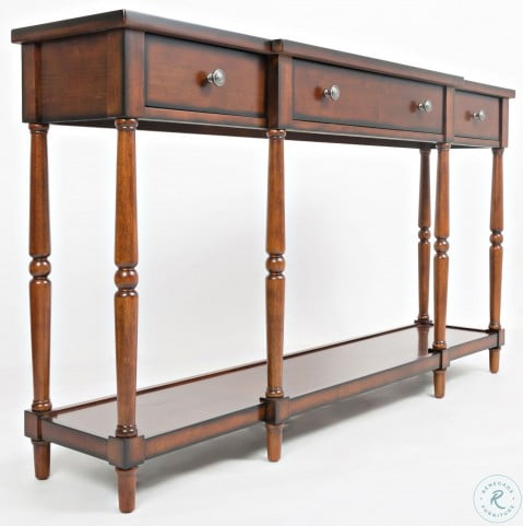"""Stately Home 60"""" Antique Mahogany Console"""