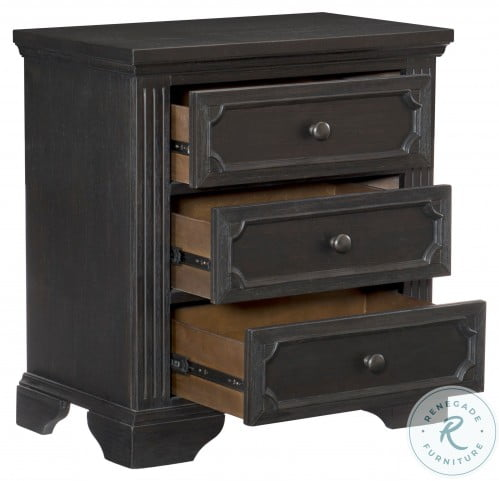 Bolingbrook Wire Brushed Charcoal Nightstand