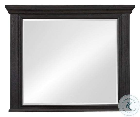 Bolingbrook Wire Brushed Charcoal Mirror