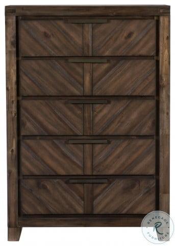 Parnell Rustic Cherry Panel Bedroom Set