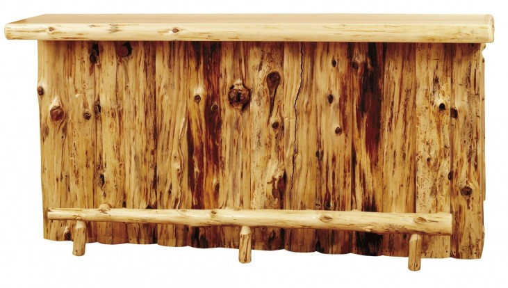 "Cedar Left Side 84"" Bar With Liquid Glass Tops & Standard Cabinet"
