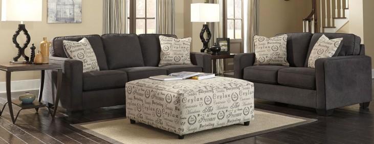 Alenya Charcoal Living Room Set