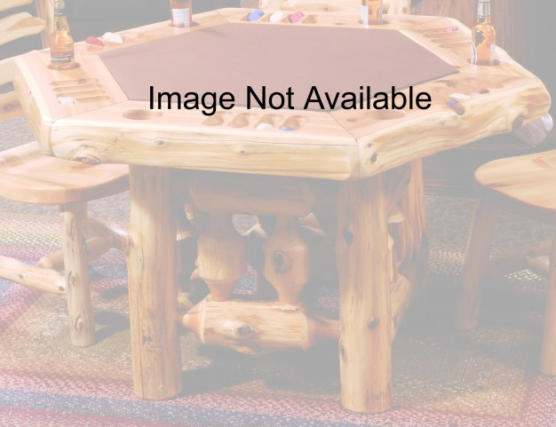 Barnwood Dining Table Cover for 6-Sided Poker Table With Artisan Top