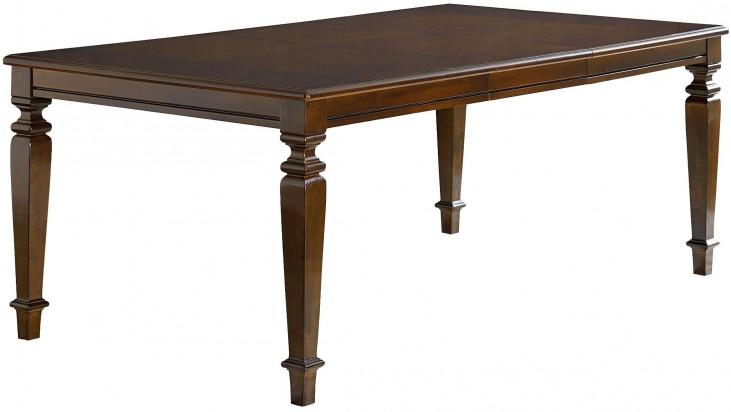 Charleston Tobacco Brown Extendable Rectangular Leg Dining Table