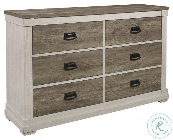 Arcadia White And Weathered Gray Dresser