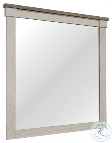 Arcadia White And Weathered Gray Mirror