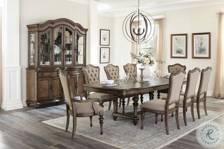 Heath Court Brown Oak Extendable Dining Room Set