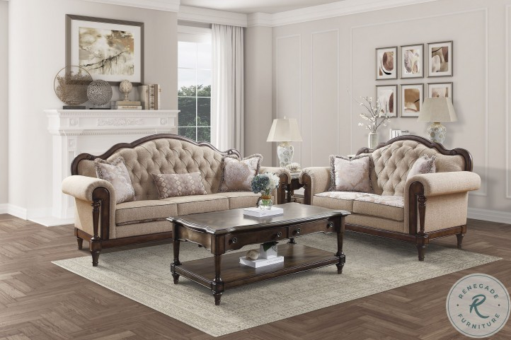 Heath Court Brown Wood Occasional Table Set
